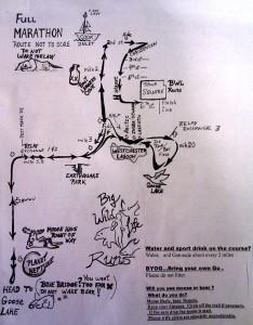 skinny raven half marathon map